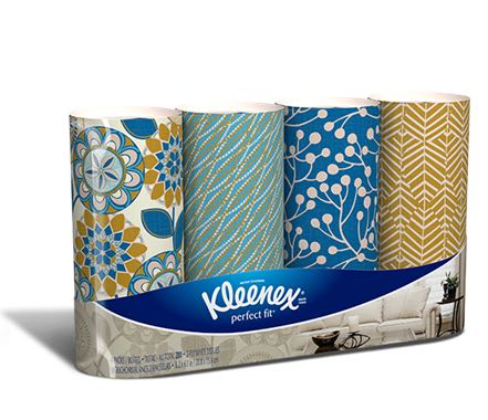 Kleenex Perfect Fit Facial Tissue 4pk Printable Coupon