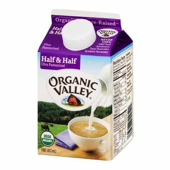 Organic Valley Half and Half Product Printable Coupon