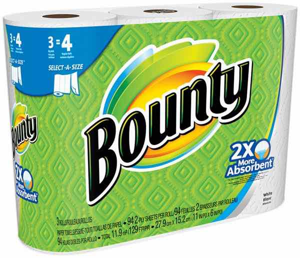 Bounty Paper Towels 3 Big Roll Printable Coupon