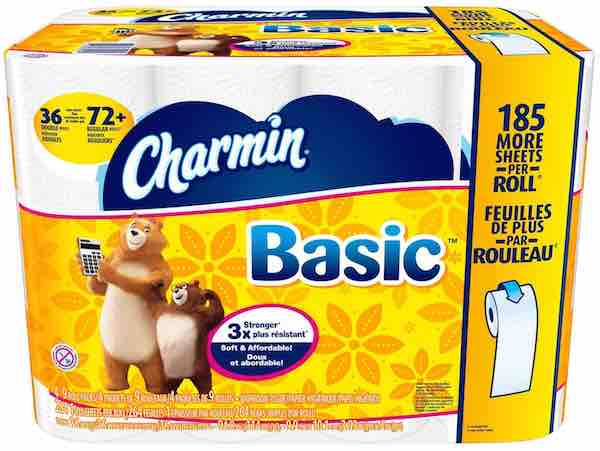 Charmin Basic Double Roll Bath Tissue
