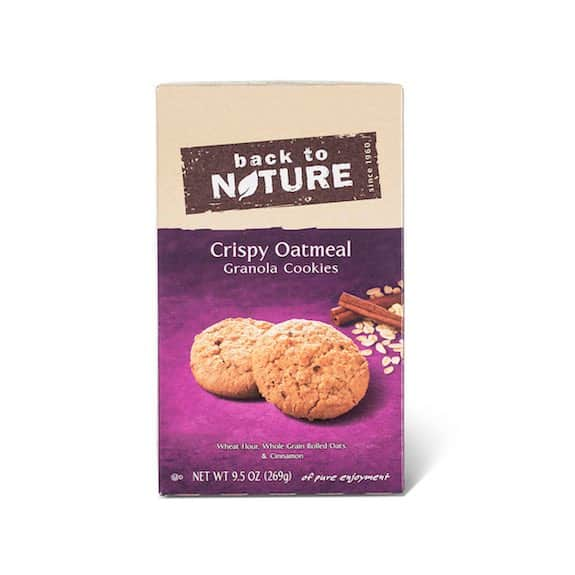 Back to Nature Crispy Oatmeal Granola Cookies Printable Coupon