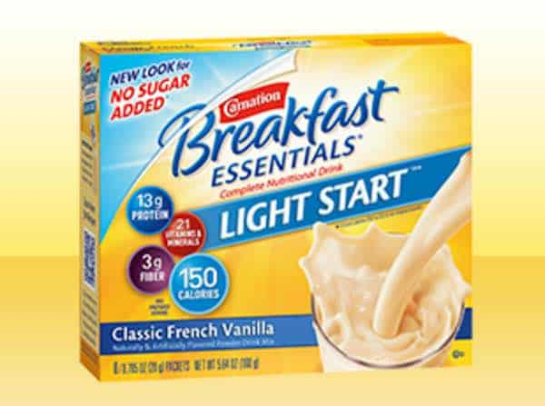 Carnation Breakfast Essentials Light Start Nutritional Product Printable Coupon
