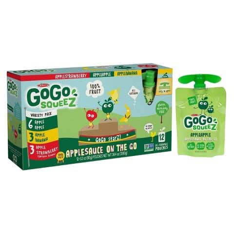 GoGo Squeez Applesauce Pouches 12ct Printable Coupon
