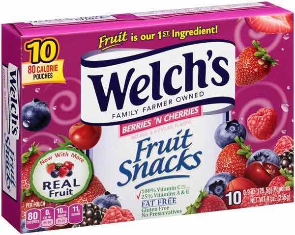 Welch's Fruit Snacks 10ct Box Printable Coupon