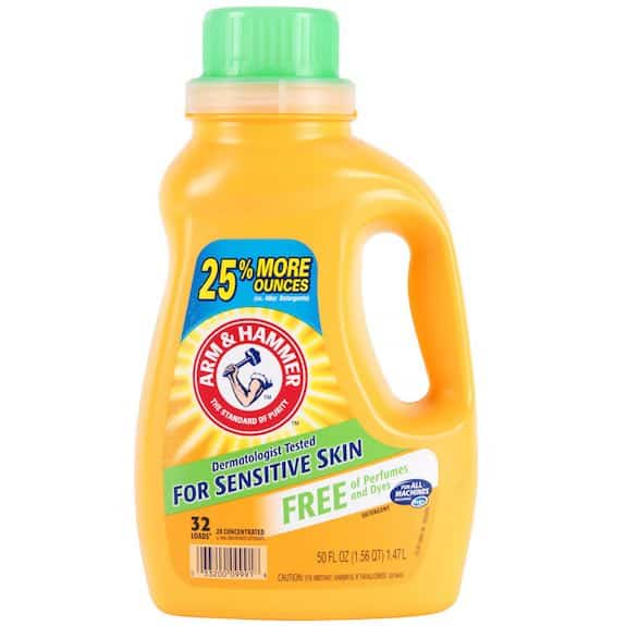 Arm & Hammer Liquid Laundry Detergent 50oz for Sensitive Skin Printable Coupon