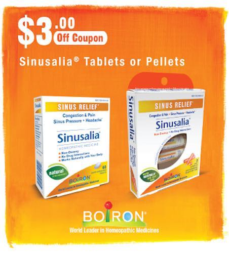 Boiron Sinusalia Tablets Printable Coupon