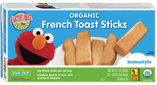 Earth's Best Frozen Breakfast French Toast Products Printable Coupon