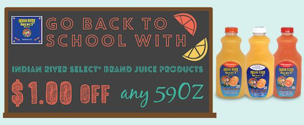 Indian River Select Juice Products Printable Coupon
