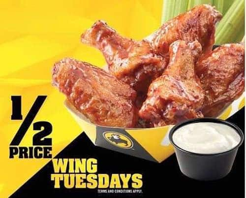 graphic relating to Buffalo Wild Wings Printable Coupons called Rating Fifty percent-Rate Wings At Buffalo Wild Wings Presently