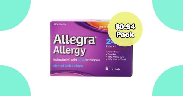 Allegra Allergy 5ct Pack Image