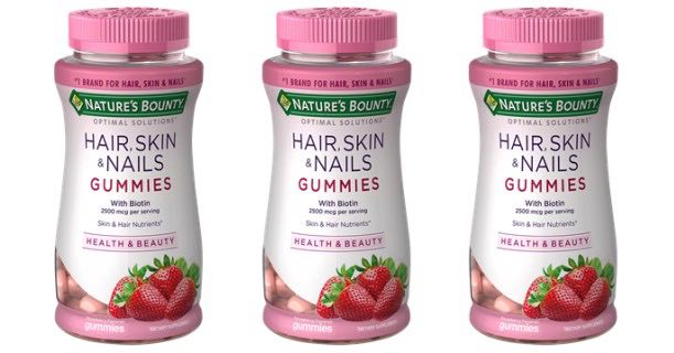Nature's Bounty Hair Skin & Nails or Women's Health Gummies Printable Coupon