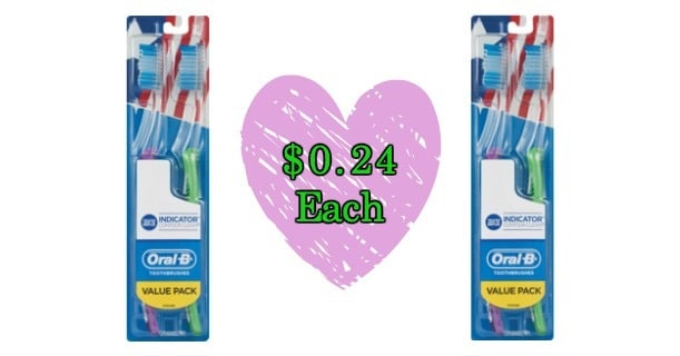 Oral-B Indicator Contour Clean Toothbrush 2pk Image