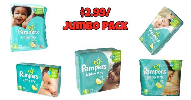 Pampers Baby Dry Jumbo Pack Diapers Printable Coupon