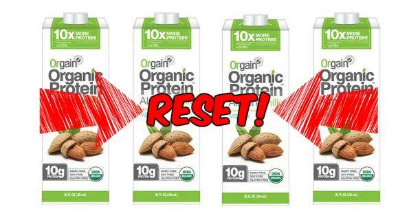 Reset Orgain Organic Almond Milk Printable Coupon