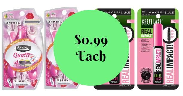 Schick & Maybelline Products Images