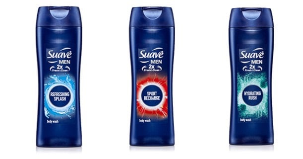 Suave Men's Body Wash Bottles 12oz Printable Coupon
