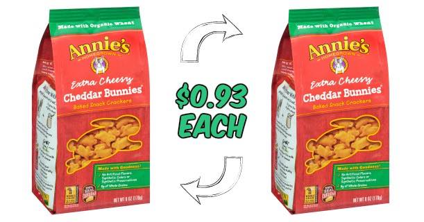 Annie's Cheddar Bunnies Crackers 6oz Box Image