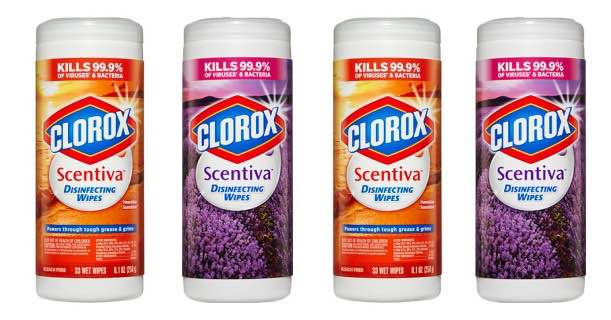 Clorox Scentiva Wipes 33ct Tubs Image