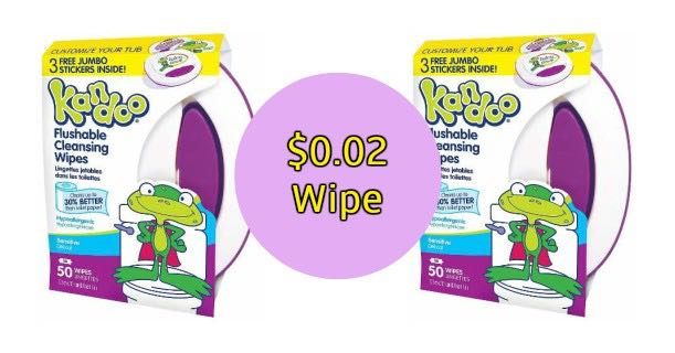 Kandoo Wipes 50ct Tub Image