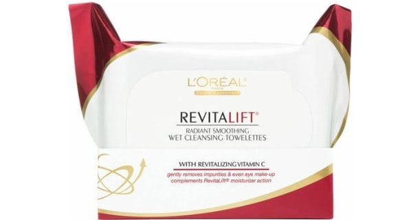 L'Oreal Revitalift Cleansing Wipes 30ct Pack Printable Coupon