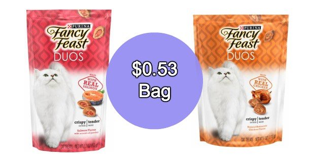 graphic regarding Fancy Feast Printable Coupons referred to as Duo Cat Snacks Printable Coupon - Printable Discount coupons and Specials