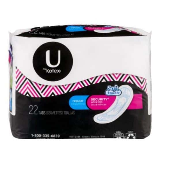 U by Kotex Ultra Thin Pads 22ct Pack Printable Coupon