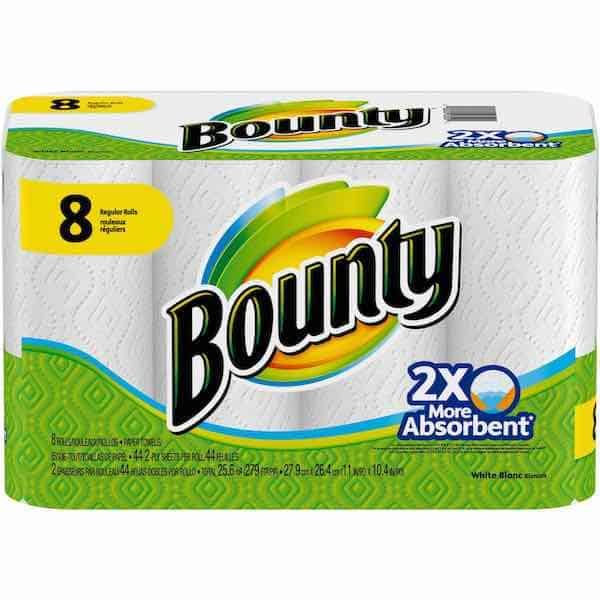 Bounty Paper Towels 8ct Pack Regular Rolls Printable Coupon
