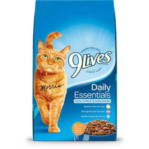 picture relating to Printable Cat Food Coupons referred to as $1.00 Off Just one 9Life Dry Cat Foodstuff Printable Coupon