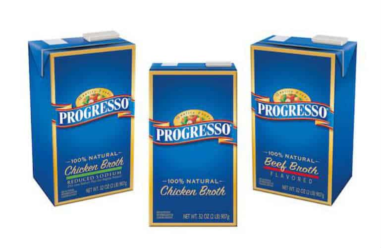 image about Printable Progresso Soup Coupons titled Conserve $1.00 Off 2 Progresso Broth Solutions! - Printable