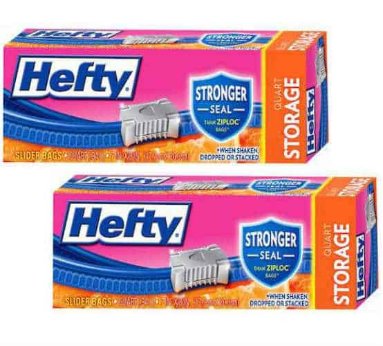 Get Hefty Storage Slider Bags For As Low Just 0 50 Box To Score This Deal Two 15 Ct On Clearance