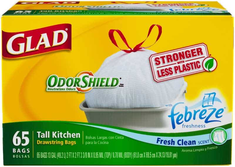 graphic relating to Glad Trash Bags Printable Coupon identified as Contemporary $1.00 Satisfied Trash Bag Printable Coupon - Printable